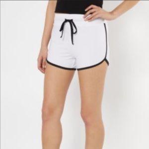 NWOT White Super Soft Shorts With Tie Waist